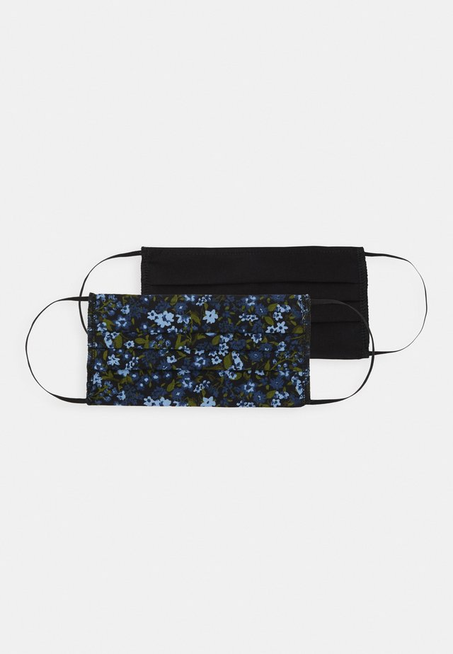 FLORAL FACE COVERING 2 PACK - Community mask - navy