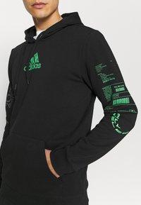 adidas Performance - X CITY HOODY - Sweatshirt - black - 3