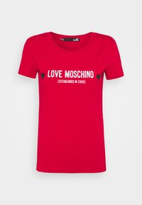 Love Moschino - Print T-shirt - red - 6