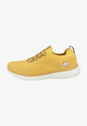 Sneakers - yellow-silver