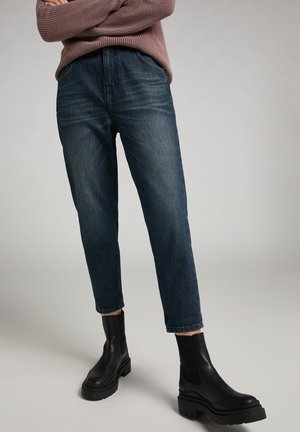 MOMS - Jeans Tapered Fit - blau