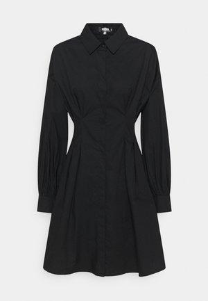 TALL POPLIN PLEATED WAIST DRESS - Skjortekjole - black