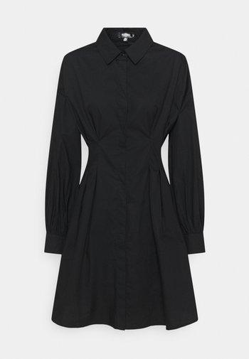 TALL POPLIN PLEATED WAIST DRESS - Shirt dress - black