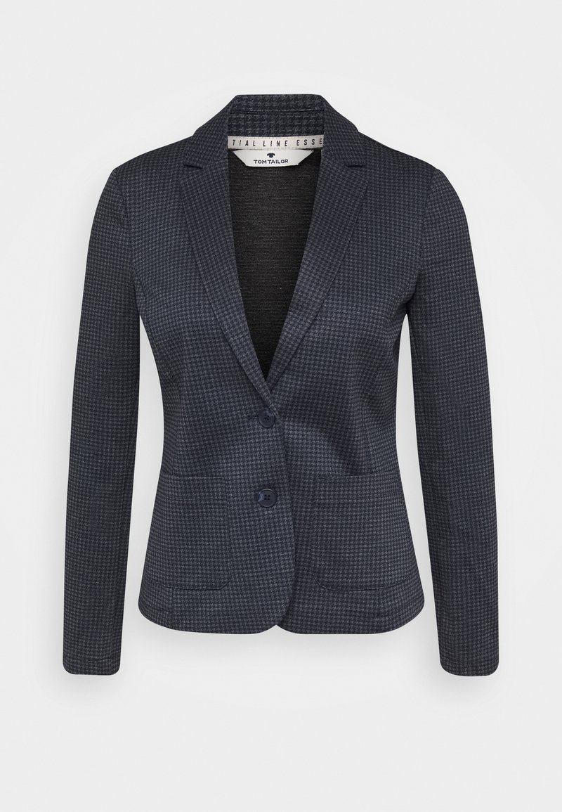 TOM TAILOR - BLAZER CHECKED - Blazer - grey houndtooth
