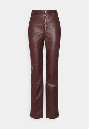 BUTTON CLOSURE PANTS - Broek - burgundy
