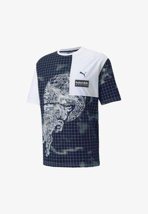 BULL RACING TEE  - T-shirt imprimé - puma white