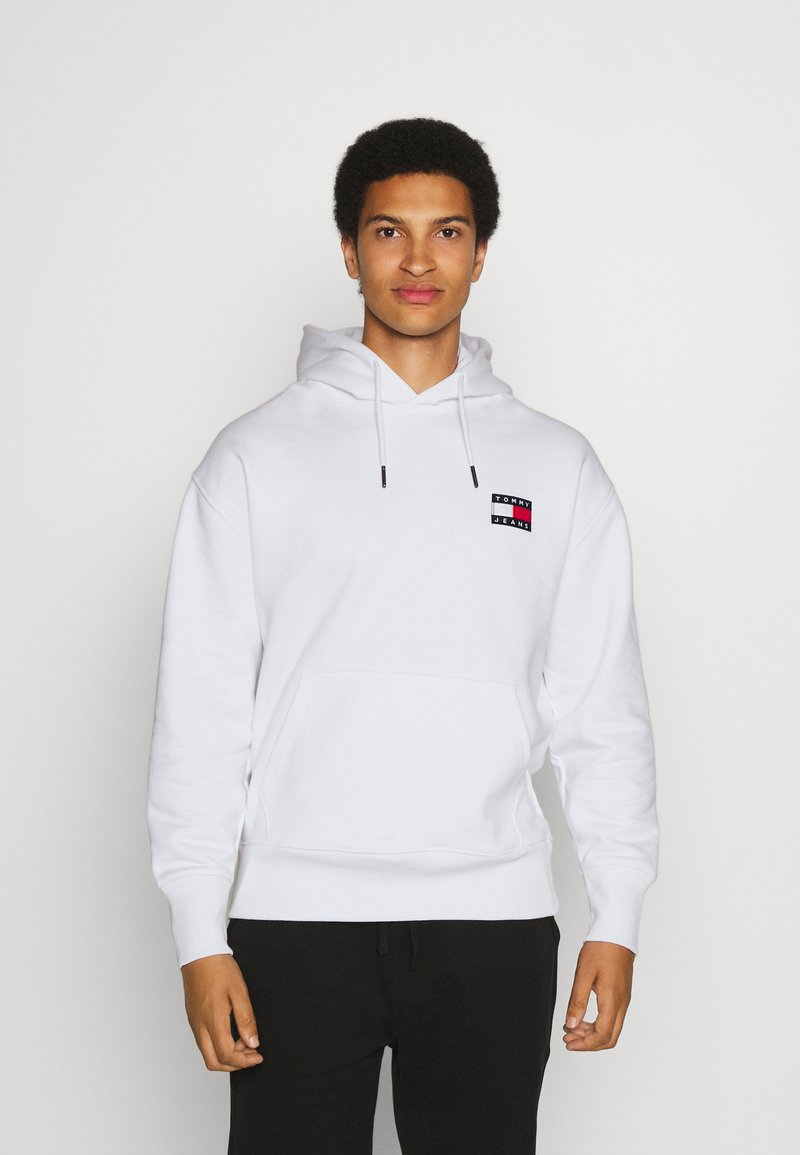 Tommy Jeans - BADGE HOODIE UNISEX - Sweat à capuche - white