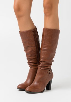 WIDE FIT WILD - Boots - tan