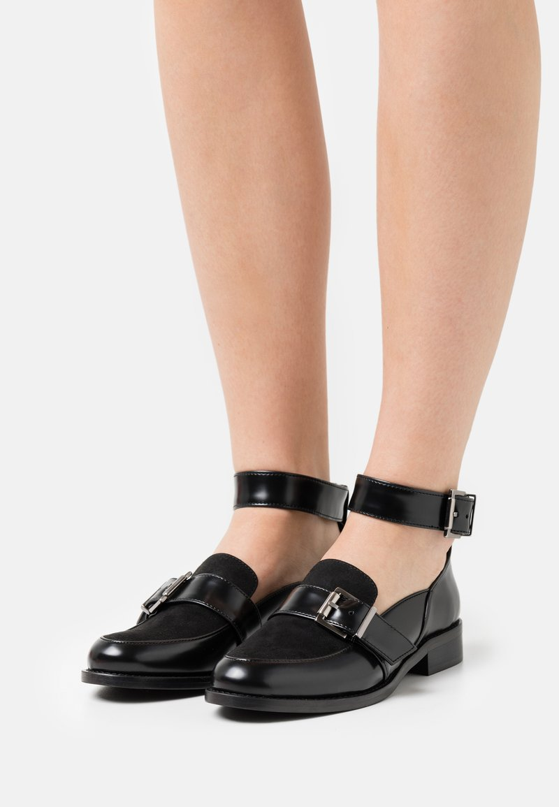 NAE Vegan Shoes - LUNA VEGAN  - Nazouvací boty - black