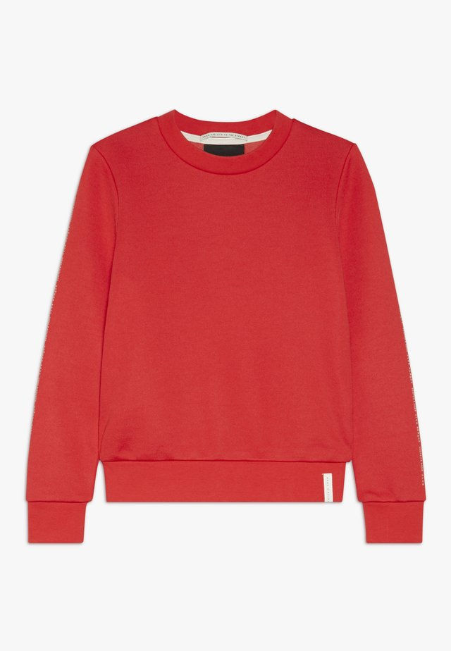 CLUB NOMADE CREW NECK WITH CHEST PRINTS - Sudadera - tomato