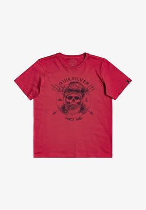 Print T-shirt - american red
