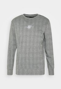 SIKSILK - DOG TOOTH CHECK CREW SWEATER - Sweater - black/white