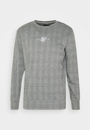 DOG TOOTH CHECK CREW SWEATER - Felpa - black/white