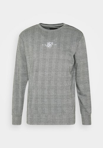 DOG TOOTH CHECK CREW SWEATER
