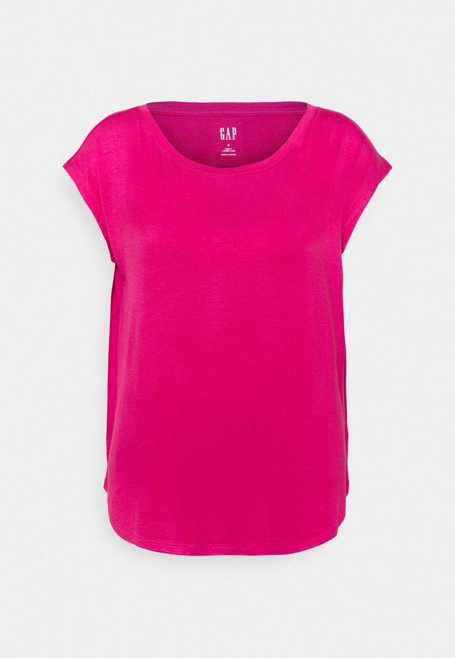 LUXE  - T-shirt basic - royal fuchsia