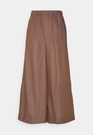 FOGLIA - Trousers - dunkelbraun