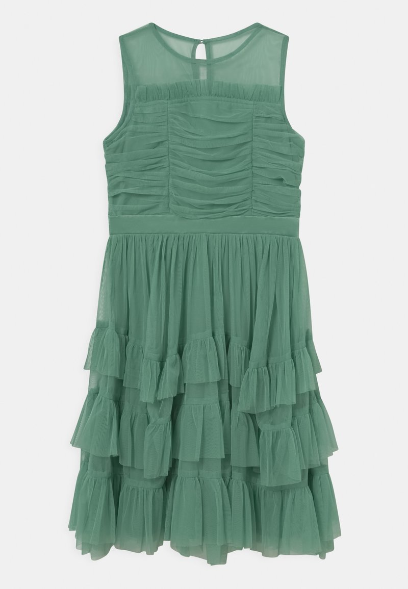 Anaya with love - SLEEVELESS RUFFLE DRESS - Koktejlové šaty/ šaty na párty - clover green