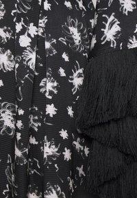 Mother of Pearl - WRAP DRESS WITH TASSEL TRIM - Maxi dress - black/ivory - 2