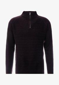 Burton Menswear London - HALF ZIP  - Sweter - burgundy - 4