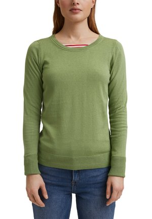 SWEATERS CREW NECK - Pullover - leaf green