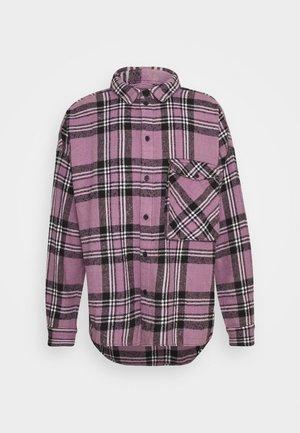 LANDO - Shirt - lilac/white/mosstone