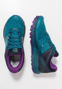 Salomon - TRAILSTER GTX - Trail running shoes - deep lagoon/navy blazer/purple magic - 1