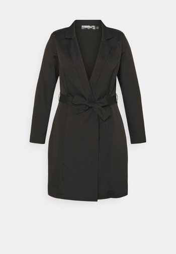 PLUS BASIC WRAP BLAZER - Short coat - black