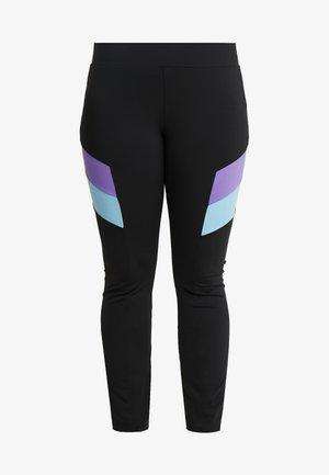 Leggings - black/ultraviolet