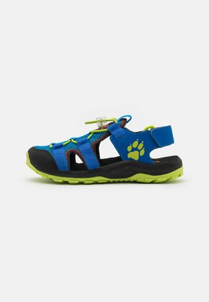 OUTDOOR ACTION UNISEX - Walking sandals - blue/lime