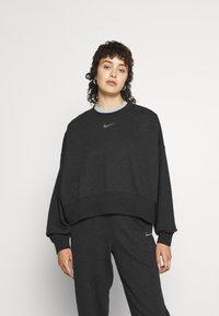 Nike Sportswear - CREW - Sudadera - black heather - 0