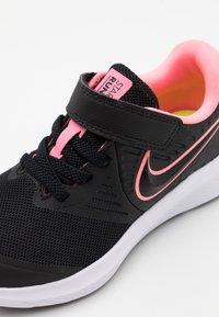 Nike Performance - STAR RUNNER 2 UNISEX - Neutral running shoes - black/sunset pulse/white - 5