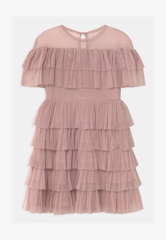 TIERED GATHERED  - Cocktail dress / Party dress - frosted pink