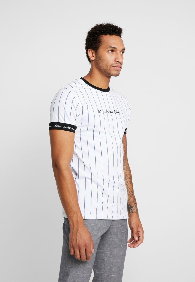 Kings Will Dream - CLIFTON - T-shirts med print - white/cobolt