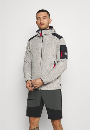 HUHTA - Fleecová bunda - light grey