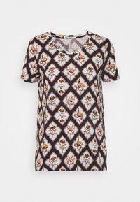 Scotch & Soda - ALLOVER PRINTED TEE - Print T-shirt - brown/white - 3