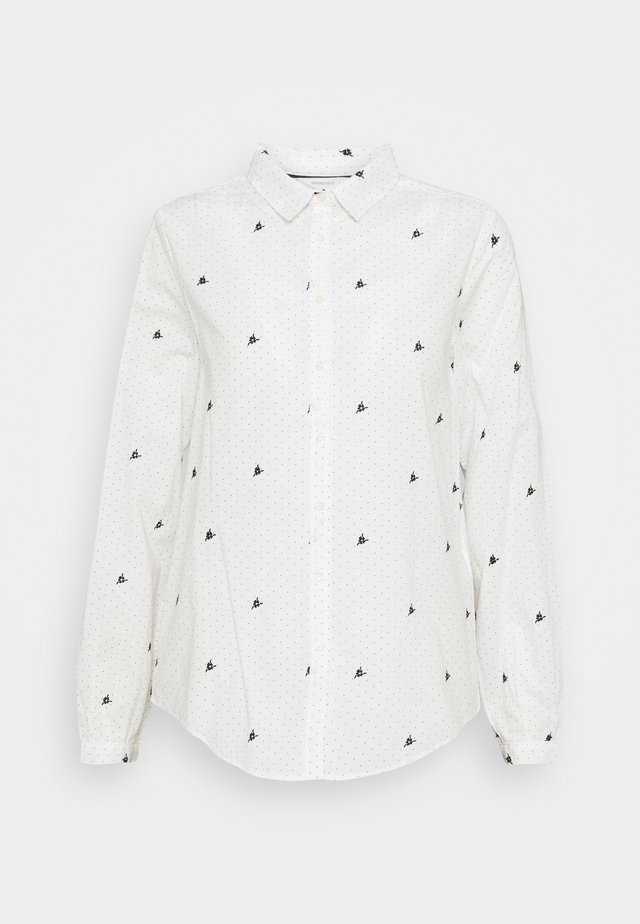 CAMISA BORDADO FLORES - Blouse - white