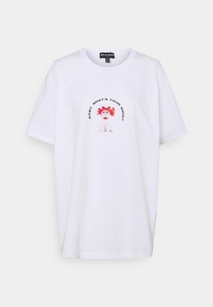 CAT STAR SIGN TEE - Printtipaita - white