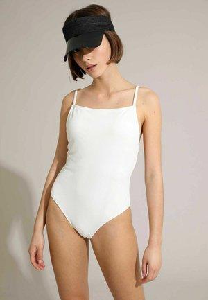 GERIPPTER - Swimsuit - weiß