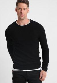 Selected Homme - SHHNEWDEAN CREW NECK - Jumper - black - 0