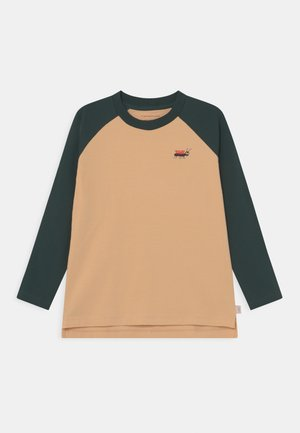 UNISEX - Long sleeved top - cappuccino/ink blue