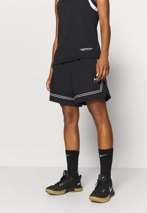 FLY CROSSOVER SHORT - Sports shorts - black/white