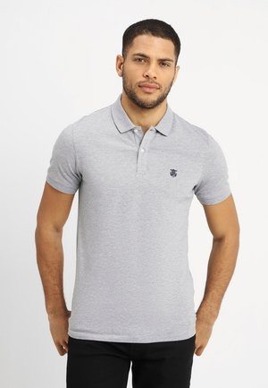 SHDARO EMBROIDERY - Polo - medium grey melange