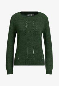 WE Fashion - MET OPENGEWERKTE STRUCTUUR - Maglione - green - 5