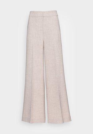 CADINA WIDE PANT - Trousers - oatmeal melange