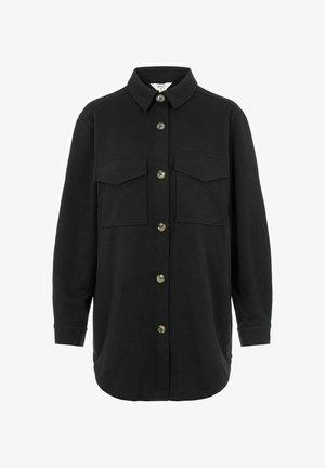 OBJMEZA - Button-down blouse - black