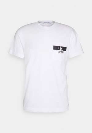 HORIZONTAL POCKET TEE - Triko s potiskem - bright white