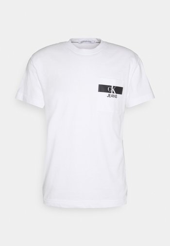 HORIZONTAL POCKET TEE - T-shirt z nadrukiem - bright white