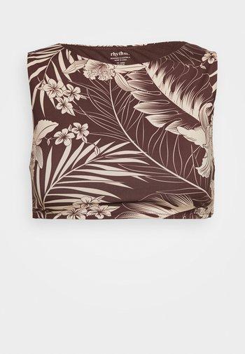 MAHINA CROP - Bikini top - cocoa