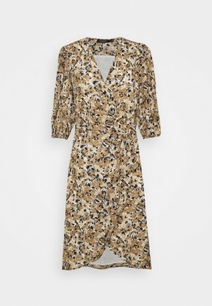 MELROSE WRAP DRESS - Korte jurk - multifloral ermine