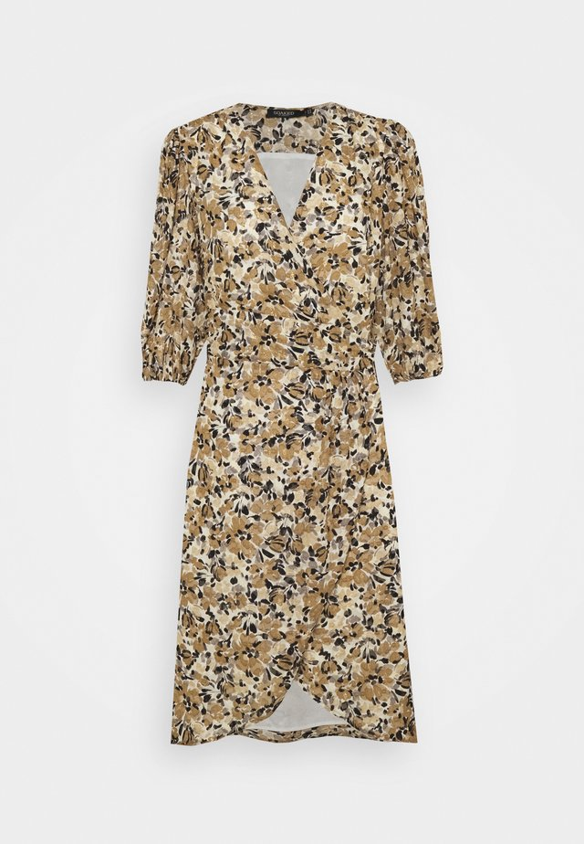 MELROSE WRAP DRESS - Day dress - multifloral ermine